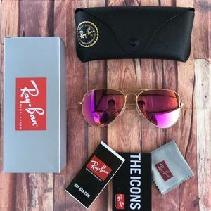 🎉60%OFF NEW AUTHENTIC RAY BAN AVIATORS